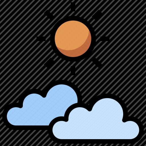 cloud, cloudy, computing, hot, sky, sun, weather icon