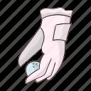 ball, equipment, glove, golf, golfer, play, sport icon