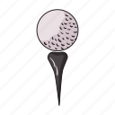 ball, equipment, game, golf, sport, stand, tool icon