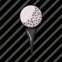 ball, equipment, game, golf, sport, stand, tool