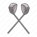equipment, game, golf, inventory, putter, sports, tool icon