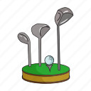 ball, equipment, golf, inventory, putter, sports, tool icon