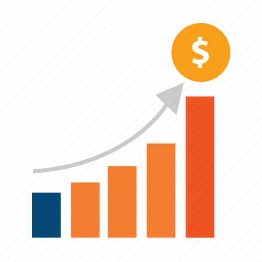 budget, chart, costs, diagram, earnings, expenses, growth, loyalty, money, profit, sales, trend, up icon