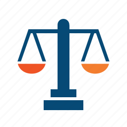 adjustment, alternative, arbitration, balance, choice, compare, comparison, decide, equality, evaluate, law, libra, trial, valuation, weight icon