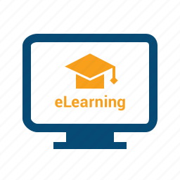distance, education, elearning, learning, online, seminar, training, webinar icon