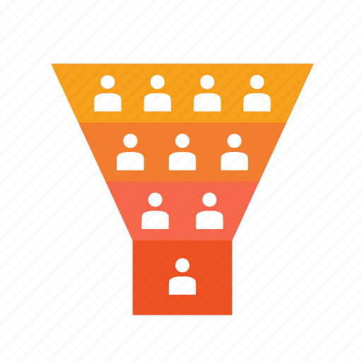 audiecne, client, conversion, customers, filter, funnel, loyalty, marketing, sales, target audience icon