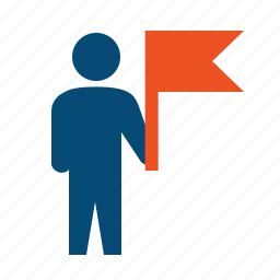achieve, flag, leader, leadership, motivate, reach, target audience, winner icon