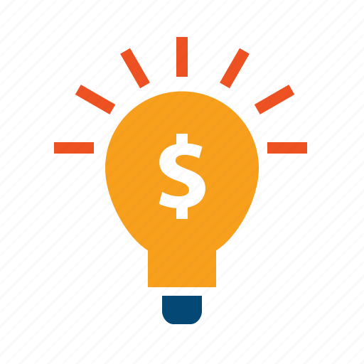 bulb, business plan, dollar, evaluate, finance, lamp, light, strategy icon