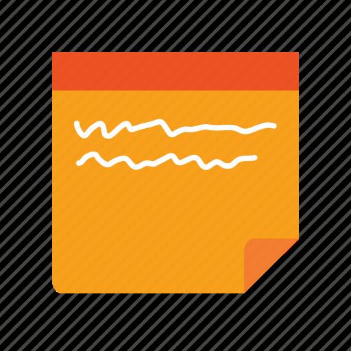 ad, agile, draft, note, notepad, notice, sketch, sticky, sticky label icon