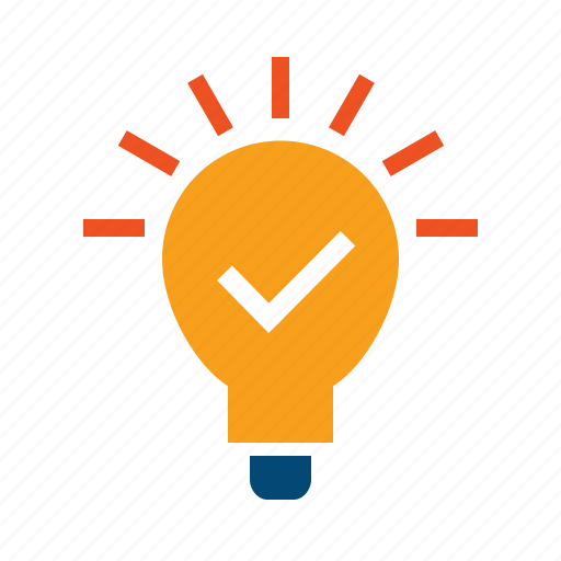 advice, approach, bulb, concept, experience, idea, implement, innovation, innovative, inspiration, lamp, light, potential, realize, strategic, tip, trick, use case icon