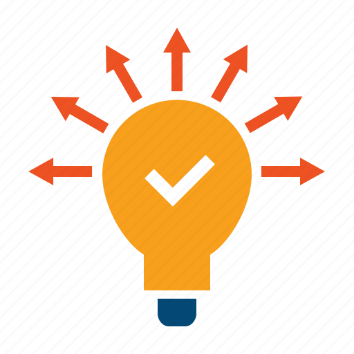advice, assumption, concept, conclusion, decision, hypothesis, ideas, innovation, solve, tip, use case icon
