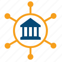 affiliated societies, branches, departments, faculty, infrastructure, structure icon