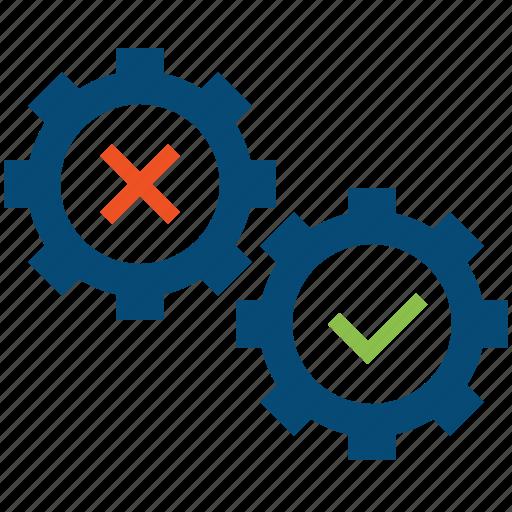 attempt, debug, diagnostics, fix, perform, problem, qa, revise, revision, solve, tasks, testing icon