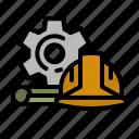 construction, helmet, tool, engineer, safe