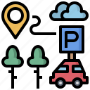car, cars, network, parking, transport, transportation, vehicle icon
