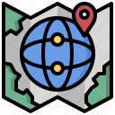 earth, flags, global, location, maps, planet icon
