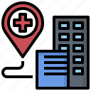 gps, hospital, location, map, placeholder, point, pointer icon