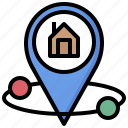 estate, gps, location, maps, pin, real icon