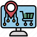 ecommerce, marketing, monitor, online, screen, shop, shopping icon