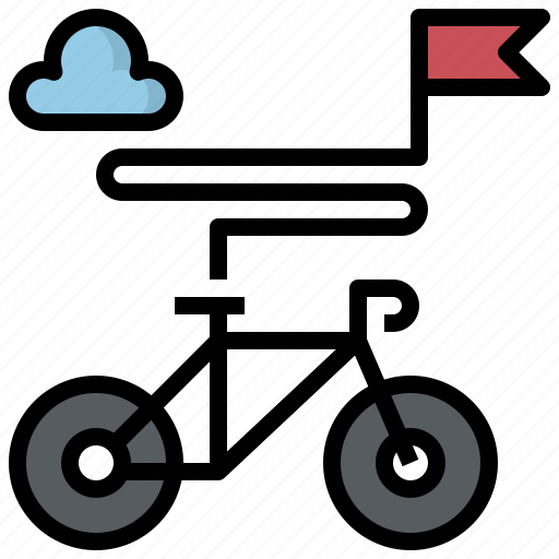 bike, cycling, park, sport, time, transport, travel icon