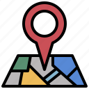 location, map, maps, pin, point, pointer, square icon