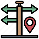 direction, flags, maps, pole, signage, signals icon