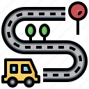 car, cars, communications, connected, signal, transportation, wifi icon