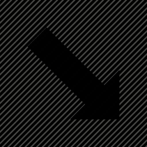 arrow, direction, down, ways icon