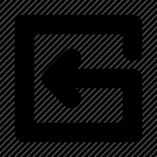 align, arrow, center, left icon
