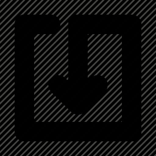 align, arrow, bottom, center icon