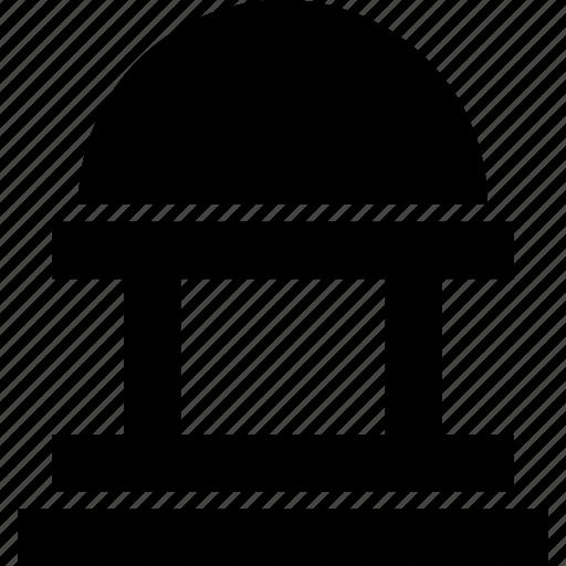 bank, building, landmark, library, museum icon