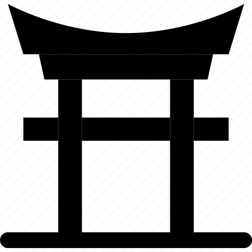 building, gate, japanese, japanese gate, landmark icon