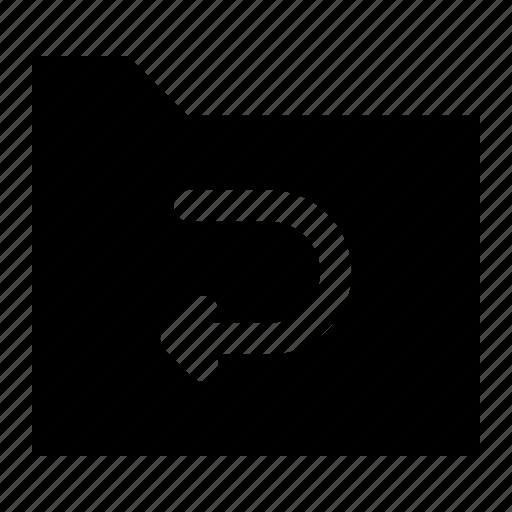 archive, arrow, file, folder, previous icon