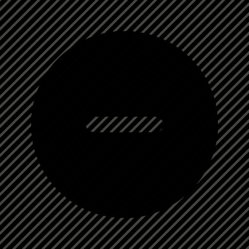 circle, interface, minus, remove icon