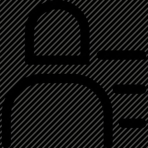 list, person, profile, user, woman icon