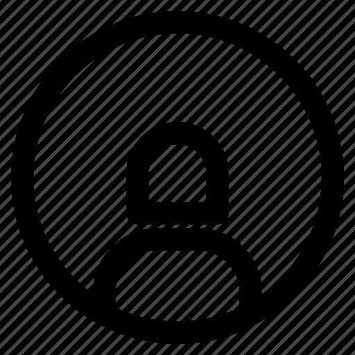 circle, identity, person, profile, user, woman icon