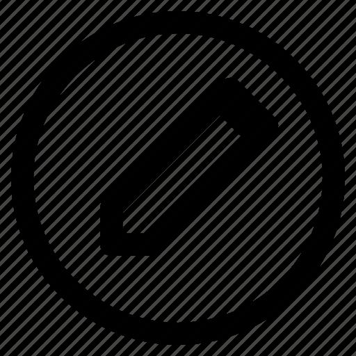 circle, edit, pencil, writing icon