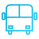 blue, bus, holiday, tour, transport icon