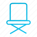 blue, chair, furniture, office, table icon