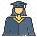 award, day, graduates, graduation, medal, ribbon, trophy icon