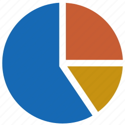 analytics, chart, graph, overview, pie, sectors icon