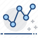 chart, data, diagram, dot, graph, infographic, plot icon