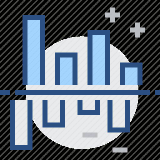 chart, comparison, diagram, gain, graph, infographic, loss icon