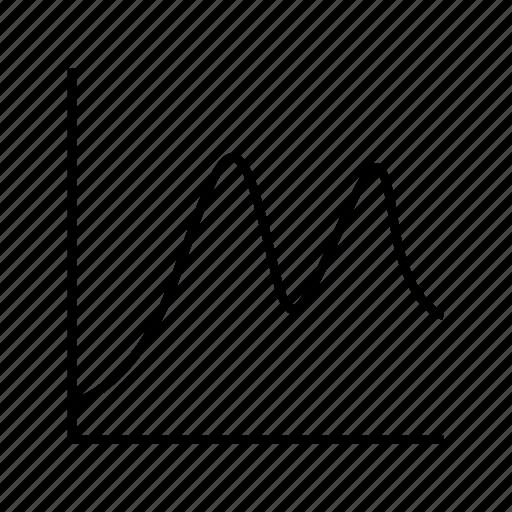 analytics, chart, data, graph, plot, stats, trend icon