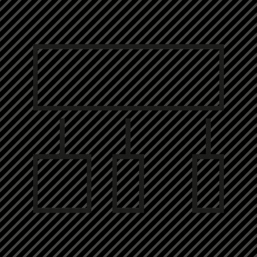 diagram, infochart, logic icon