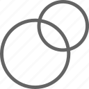 chart, charts, circle, diagram, intersecting, pie, venn icon