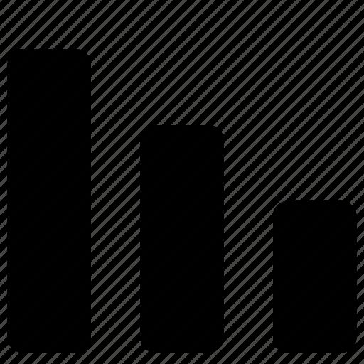 bar, chart, decrease, descending, graph, histogram, sort, trend icon