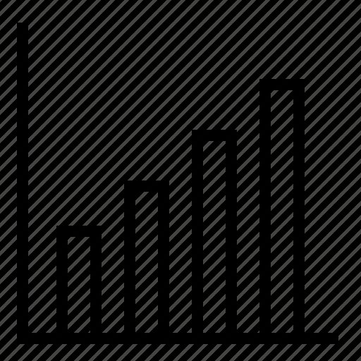 analysis, analytics, bar chart, chart, diagram, increasing line chart, report icon