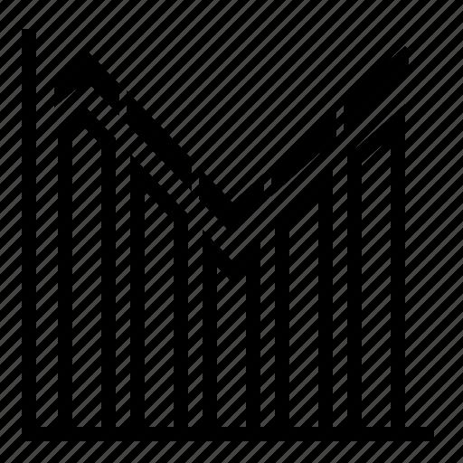 analysis, analytics, bar chart, chart, diagram, line chart, report icon