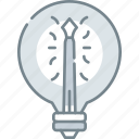 art, bulb, creative, creativity, design, light, pen icon